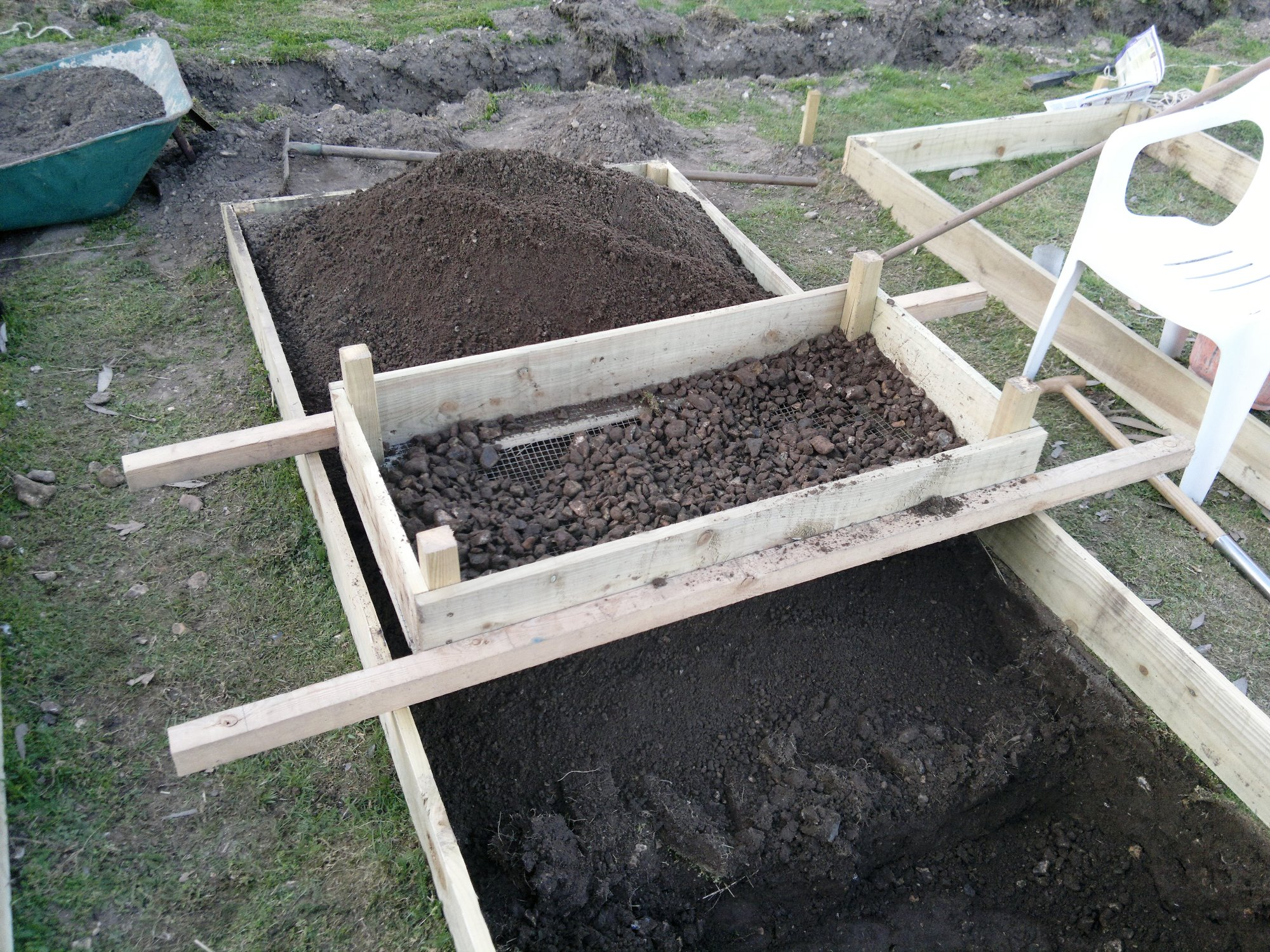 The 'super sieve' made a huge difference to our progress and the soil