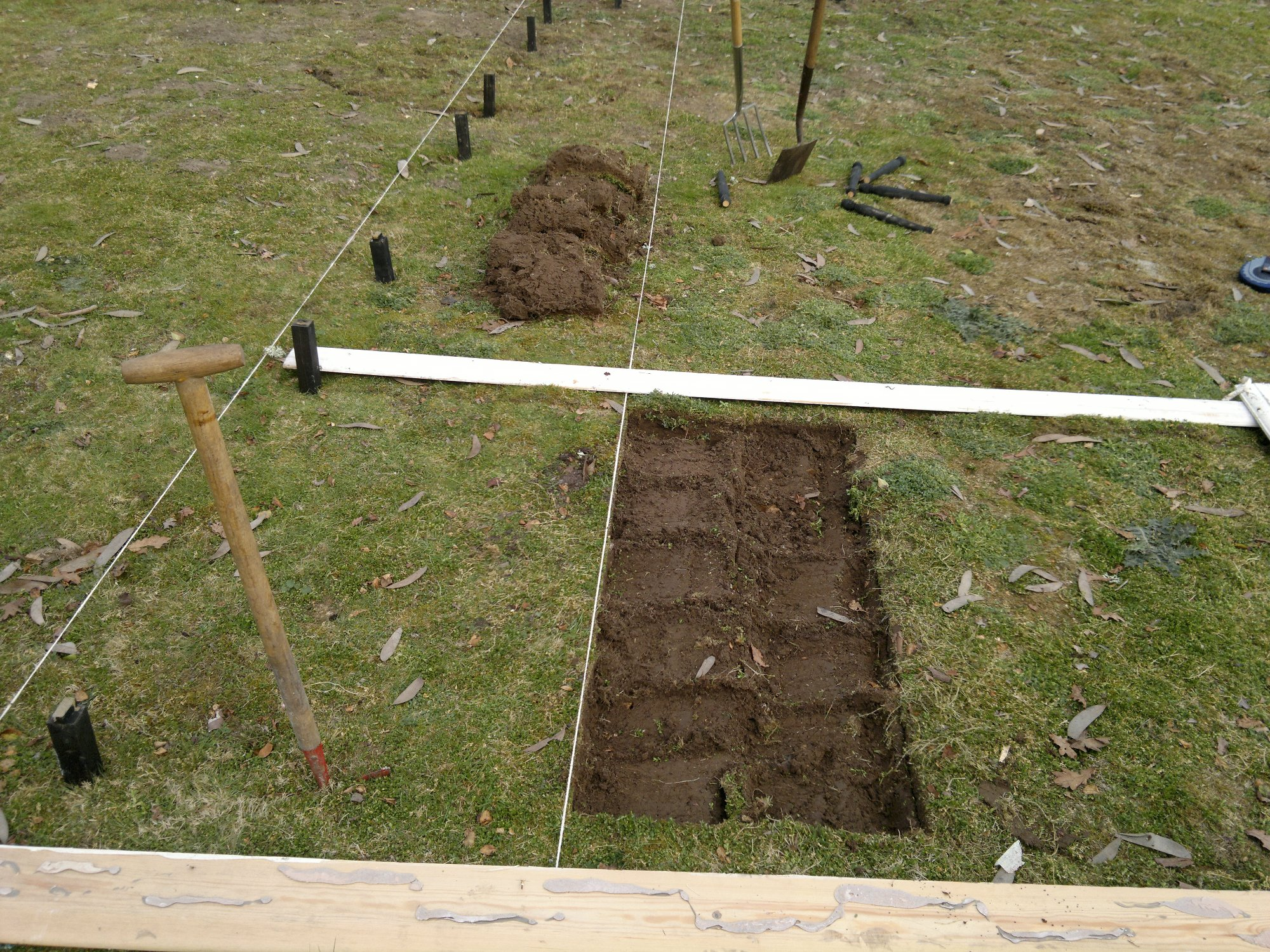 Trenching part 1: removal of turf