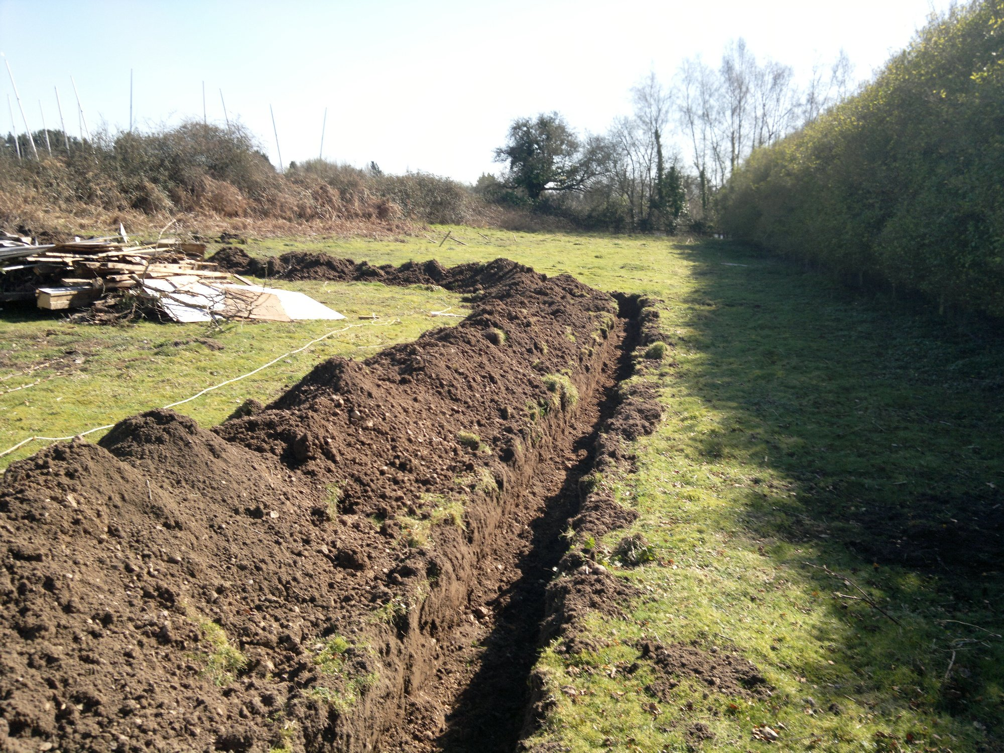 Trench ready for fencing
