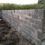 Inside of the new wall, ready for the dwarf walls to be built for the glasshouses