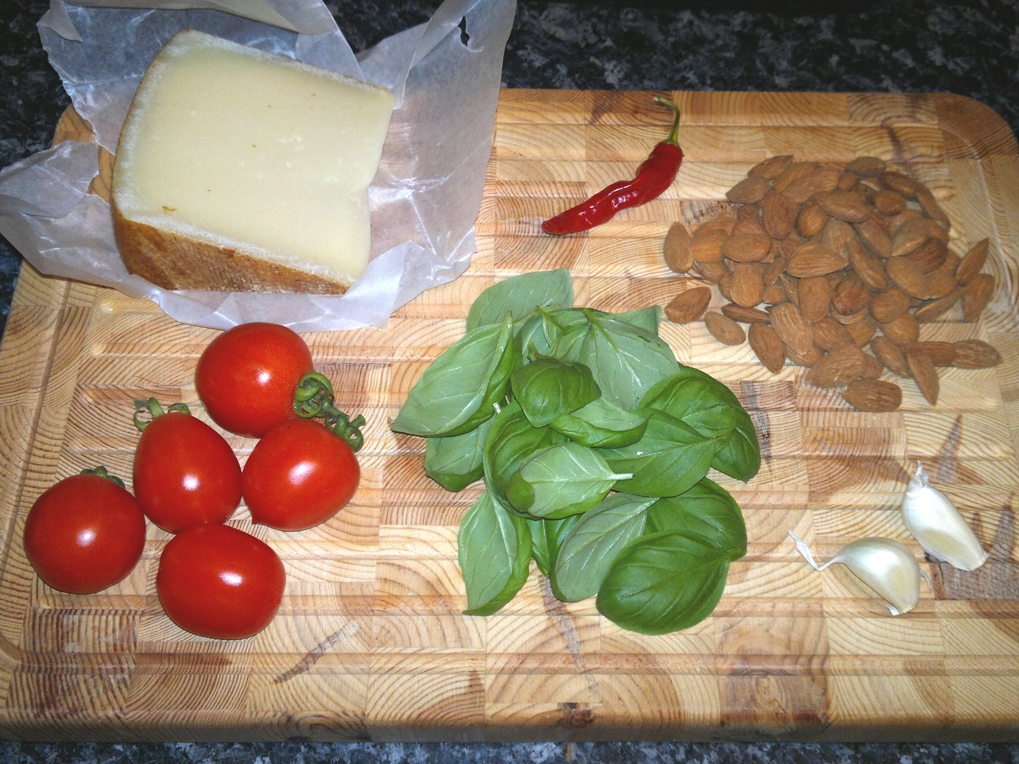 Ingredients for the Sicilian Pesto Trapanese