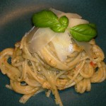 The finished dish, made here with linguine