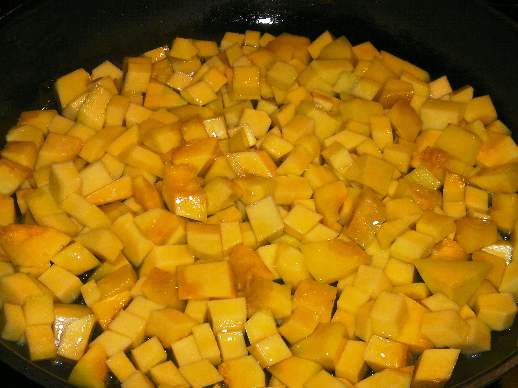 Butternut squash, ready for the oven
