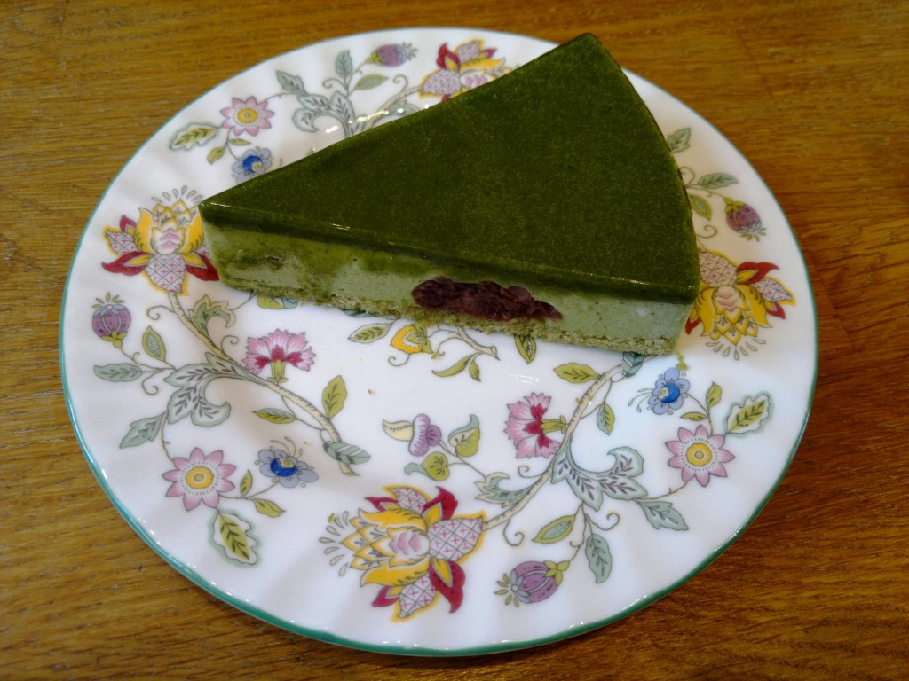 Green tea pannacotta