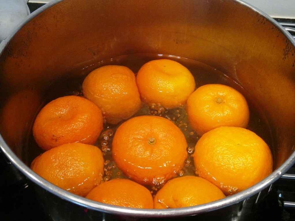 Oranges bubbling away