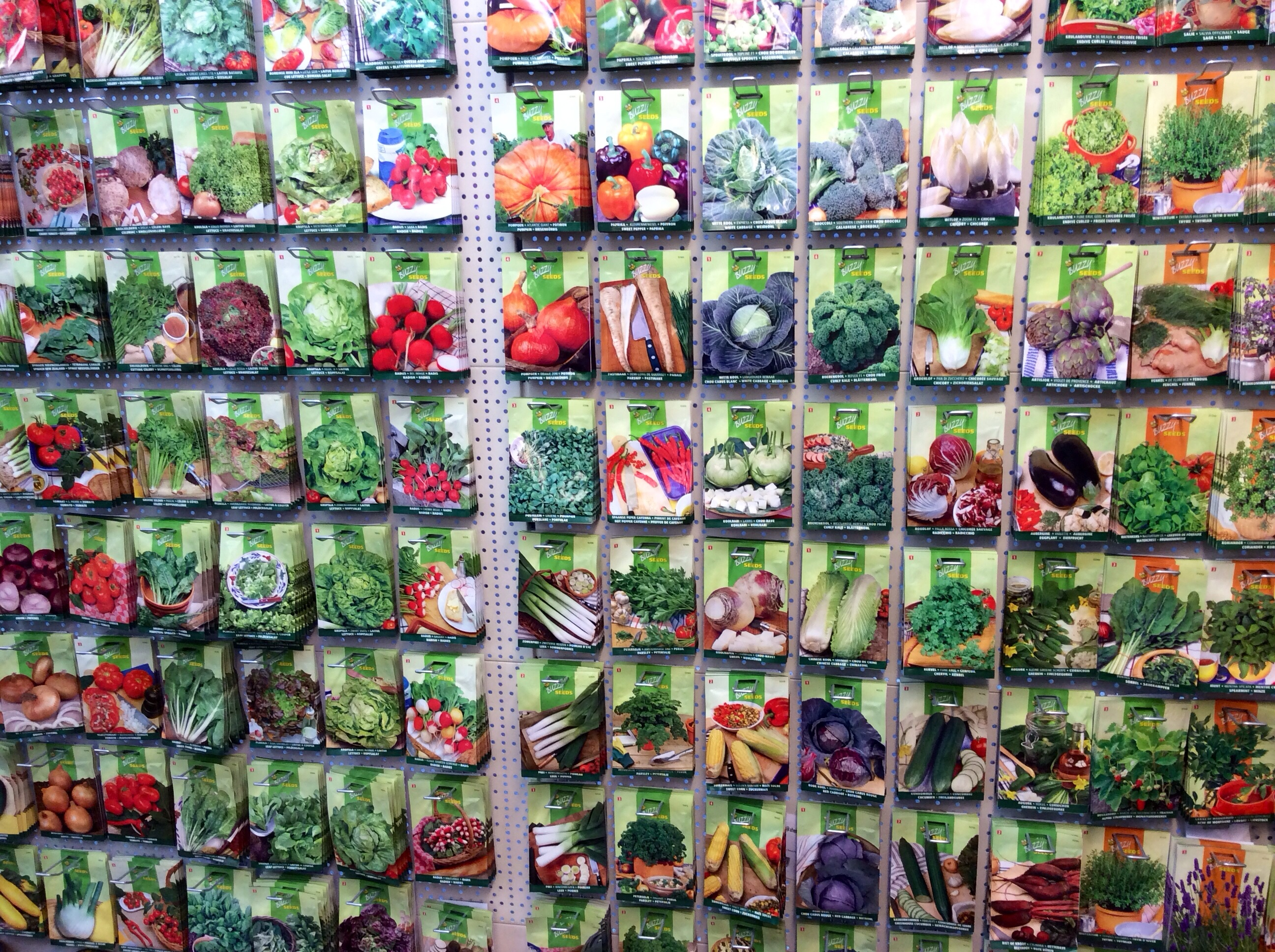 Just a small section of the extensive range of seeds on offer