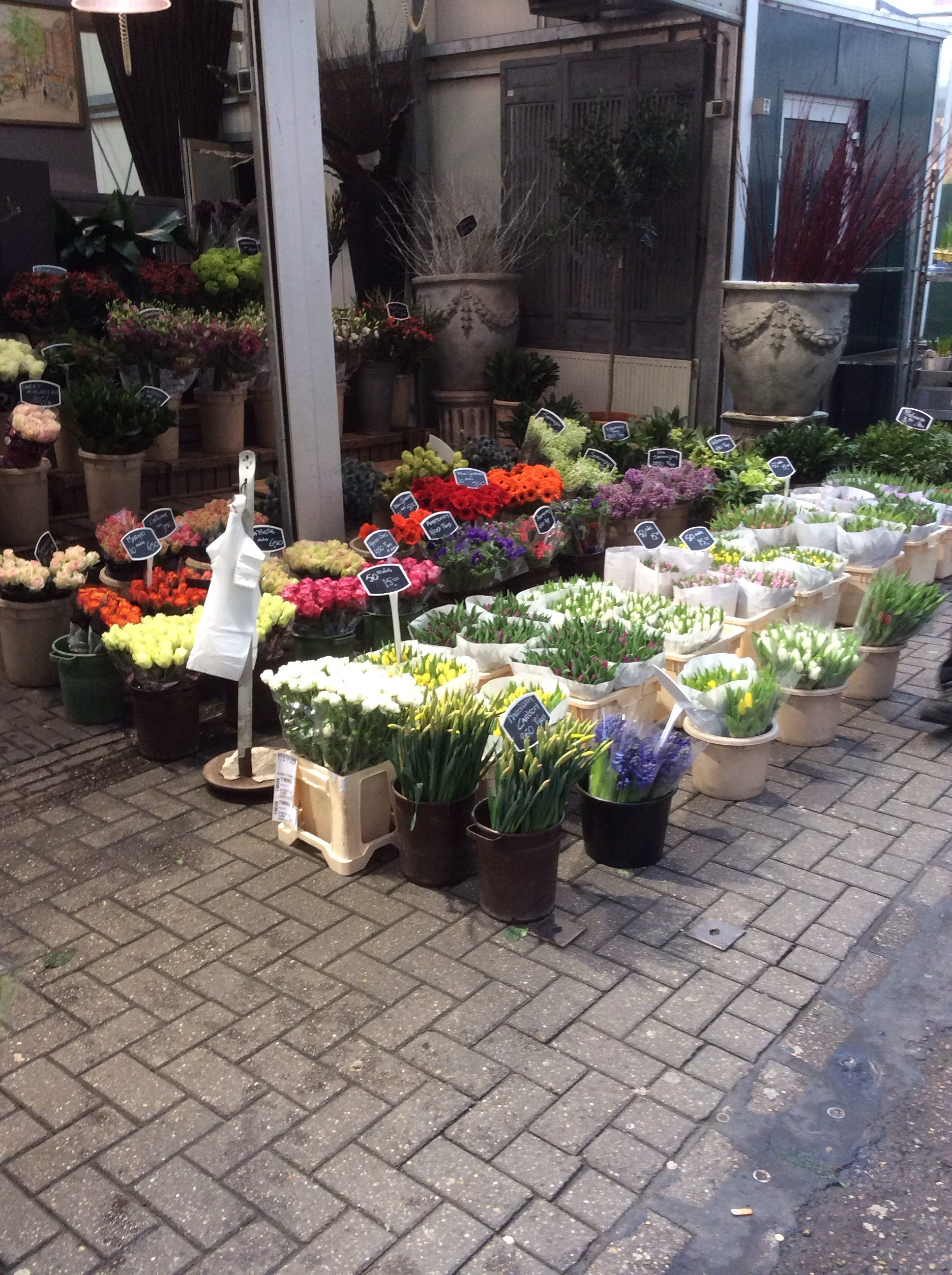 Some fresh flowers were also available