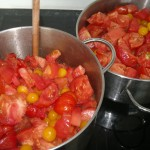 Coarsely chopped and ready to cook