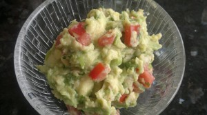 Fresh homemade guacamole