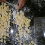No, those delicate hands do not belong to me - that is the 'apprentice', Claire, learning how to make gnocchi