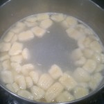 The gnocchi are ready when they float to the surface