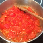 Fresh tomatoes being turned into sauce