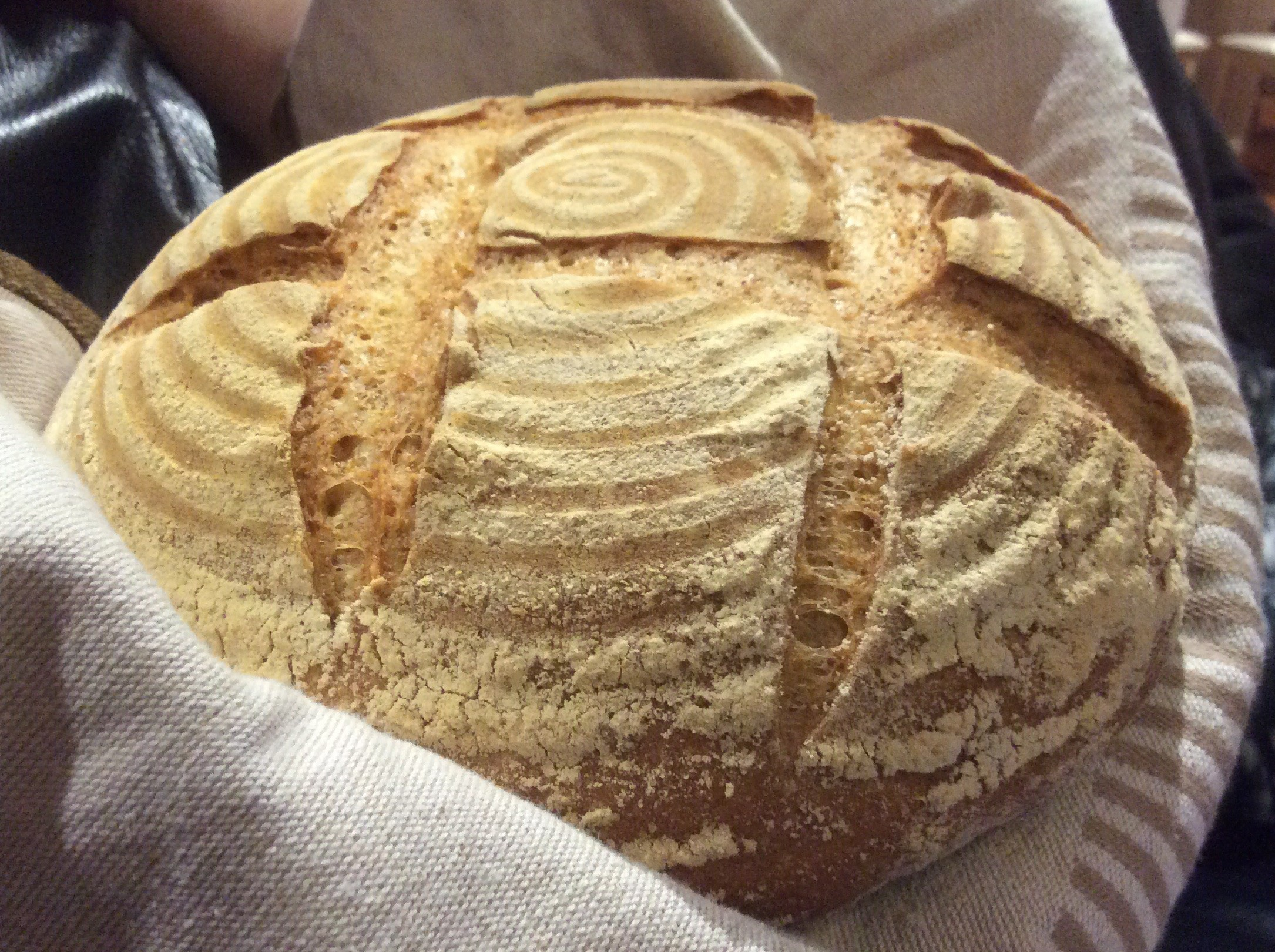 Sourdough rye and wholemeal boule