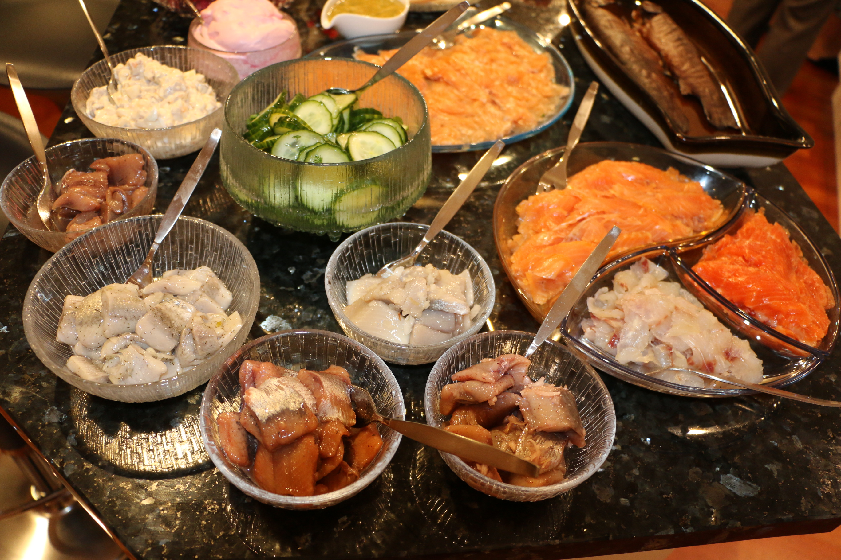 The selection of herrings on our Chirstmas table this year; top-left for this recipe