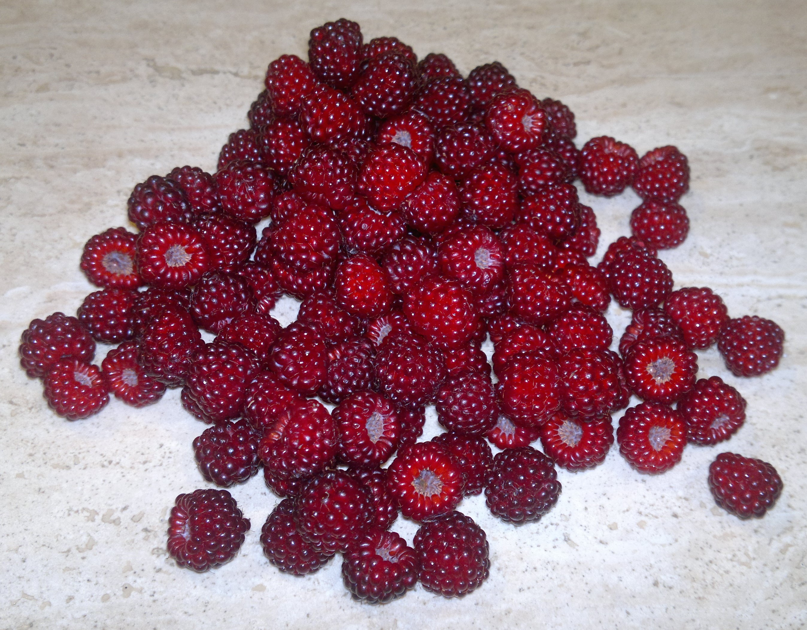 Wineberries - small but beautifully formed