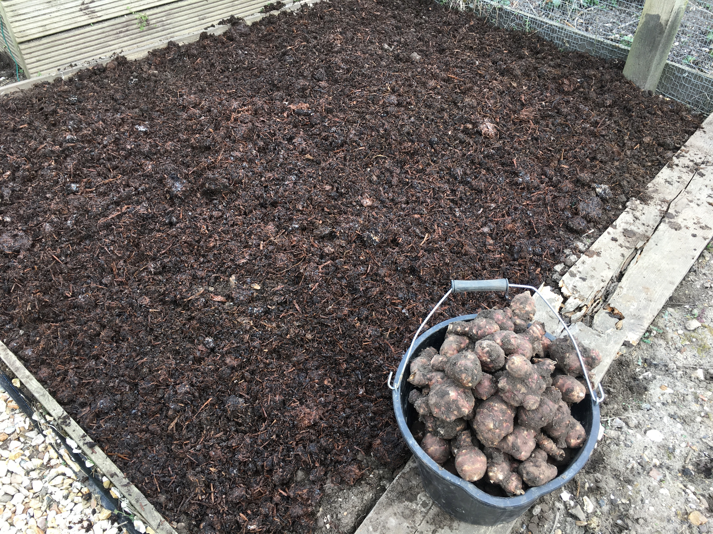 A generous mulch of organic matter completes the task